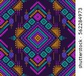multicolor tribal vector... | Shutterstock .eps vector #562284973