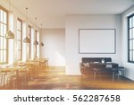 cafe interior with a large sofa ... | Shutterstock . vector #562287658