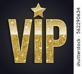 golden symbol of exclusivity ... | Shutterstock .eps vector #562290634