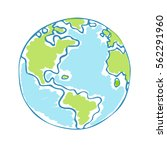 global drawing earth day.... | Shutterstock .eps vector #562291960