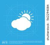 sun cloud icon | Shutterstock .eps vector #562294084