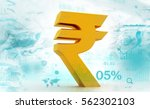 indian rupee icon.3d... | Shutterstock . vector #562302103