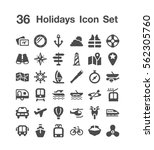 36 holiday icon set | Shutterstock .eps vector #562305760