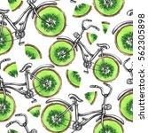 watercolor seamless pattern... | Shutterstock . vector #562305898