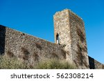 detail of fortified town of...