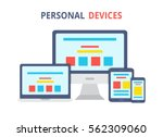 modern electronic devices.flat... | Shutterstock .eps vector #562309060