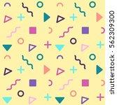 yellow avant garde geometric... | Shutterstock .eps vector #562309300