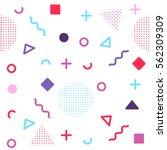 avant garde geometric seamless... | Shutterstock .eps vector #562309309