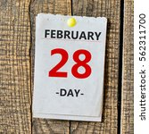 february 28th. day 28 of month... | Shutterstock . vector #562311700