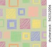 seamless vector geometrical... | Shutterstock .eps vector #562312006
