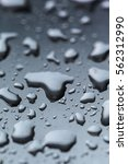 drops of rain on the glass... | Shutterstock . vector #562312990