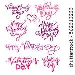 valentines day vintage...   Shutterstock .eps vector #562313233