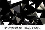 3d rendering black and silver... | Shutterstock . vector #562314298
