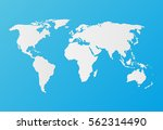 Silhouette White World Map On ...