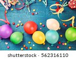 colorful birthday frame with... | Shutterstock . vector #562316110