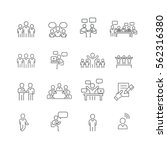 business and meeting set icons... | Shutterstock .eps vector #562316380