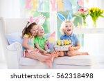 Kids Celebrate Easter. Family ...