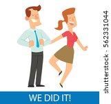 vector card with cartoon image... | Shutterstock .eps vector #562331044