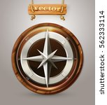 Old Compass 3d Vector Icon
