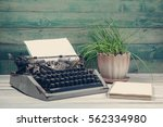 Dirty Vintage Typewriter With...
