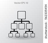 hierarchy vector icon | Shutterstock .eps vector #562335454