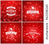 valentines day cards or poster... | Shutterstock .eps vector #562338160