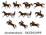 set of 10 different equestrian... | Shutterstock .eps vector #562341499