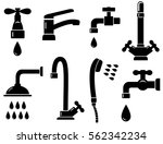 plumbing set with isolated... | Shutterstock . vector #562342234