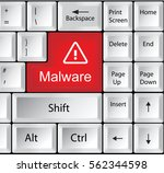computer keyboard with malware | Shutterstock .eps vector #562344598