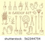 vintage sketch set of hand... | Shutterstock . vector #562344754