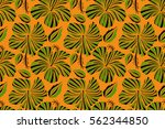 small colorful flowers. the... | Shutterstock . vector #562344850