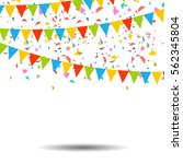 colorful confetti isolated on... | Shutterstock .eps vector #562345804
