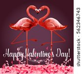 love and valentine day card....   Shutterstock .eps vector #562346743