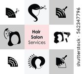 vector illustration of hair... | Shutterstock .eps vector #562347796