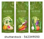 healthy vegetables banners with ... | Shutterstock .eps vector #562349050