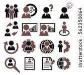 businessman icon set | Shutterstock .eps vector #562350064