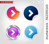 colored icon or button of right ... | Shutterstock .eps vector #562350163