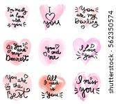hand written phrase. vector... | Shutterstock .eps vector #562350574
