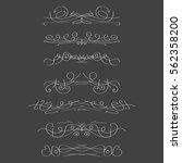 calligraphic design elements | Shutterstock .eps vector #562358200