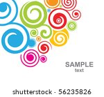 abstract decorative background | Shutterstock .eps vector #56235826