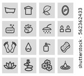 vector line spa icons set on... | Shutterstock .eps vector #562362433