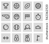 vector line sport icons set on... | Shutterstock .eps vector #562362520
