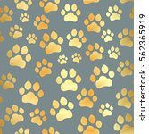 paw print seamless. traces of... | Shutterstock .eps vector #562365919