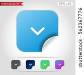 colored icon or button of down... | Shutterstock .eps vector #562367776