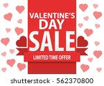 valentine's day sale  vector... | Shutterstock .eps vector #562370800