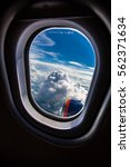 classic image through aircraft... | Shutterstock . vector #562371634