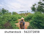 tourism concept. young... | Shutterstock . vector #562372858