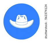 cowboy hat icon in black style... | Shutterstock .eps vector #562374124