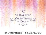 valentine's day card template... | Shutterstock .eps vector #562376710