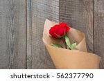 Valentine's Card. Red Roses...
